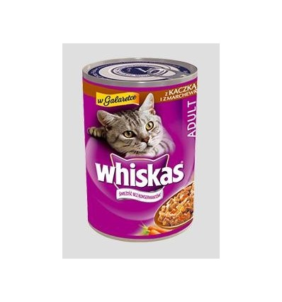 Karma dla kota puszka kaczka i marchewka w galaretce 400g Whiskas
