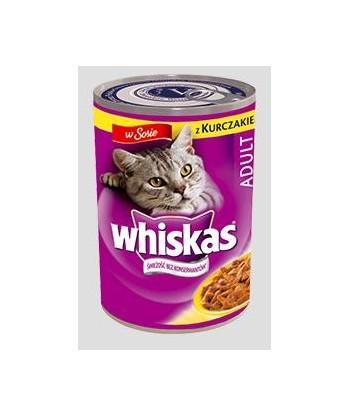 Karma dla kota puszka kurczak w sosie 400g Whiskas