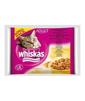 Karma dla kota Drobiowe dania w galaretce 400g Whiskas