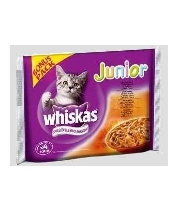 Karma dla kota Junior zestaw saszetek 400g Whiskas