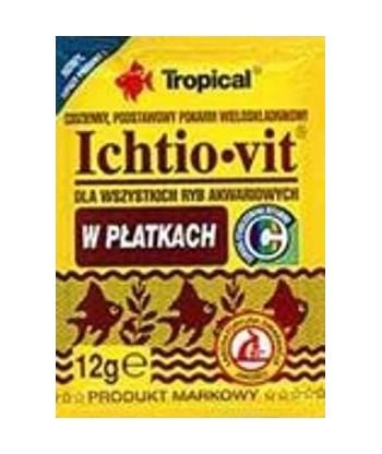 ICHTIO-VIT pokarm podstawowy w płatkach dla rybek 12g Tropical