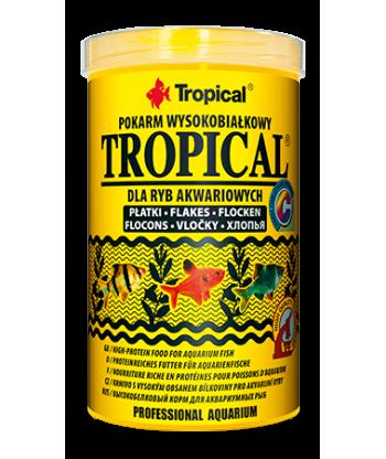 Pokarm wysokobiałkowy w płatkach dla rybek TROPICAL 12g
