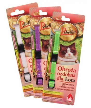 Obroża insektobójcza ozdobna dla kota PCHEŁKA 30cm LAB