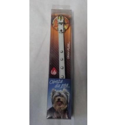 Obroża insektobójcza ozdobna z perełkami dla psa PCHEŁKA LAB