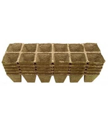 Doniczki torfowe kwadratowe 6x6/60 JIFFY