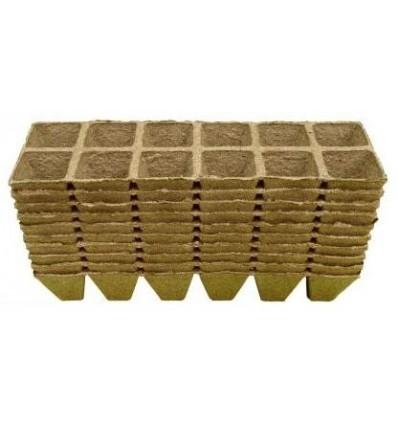 Doniczki torfowe kwadratowe 5x5/120 JIFFY