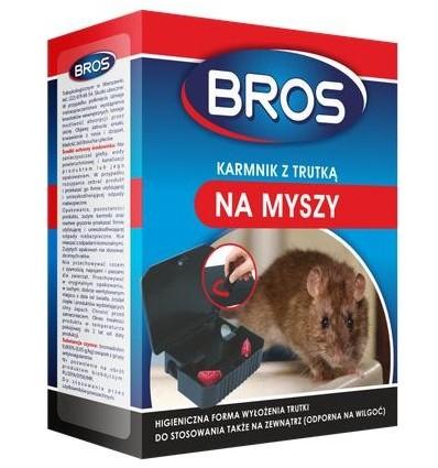 Karmnik z trutką na myszy BROS