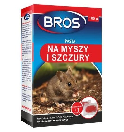 Pasta na myszy i szczury 10szt 100g BROS