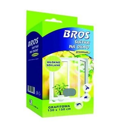 Siatka moskitiera na okno 130x150 Biała BROS
