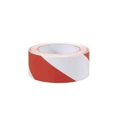 Taśma ostrzegawcza rolka biało-czerwona 7,5cmx100mb