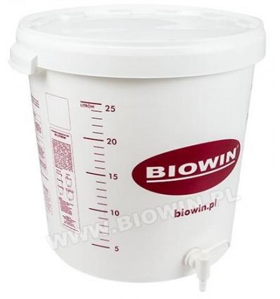 Pojemnik fermentacyjny 30L z nadrukiem oraz kranem BIOWIN