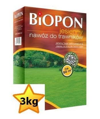 BIOPON nawóz jesienny do trawnika 3KG