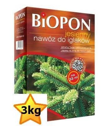 Biopon 3kg jesienny do iglaków