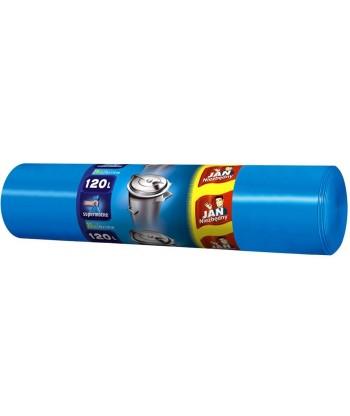 Worki na śmieci LD niebieskie 120L 25 szt. JAN NIEZBĘNY