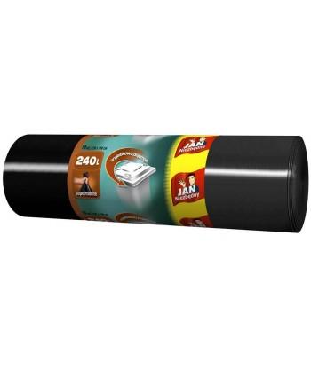 Worki na śmieci czarne 240L 10szt. JAN NIEZBĘDNY