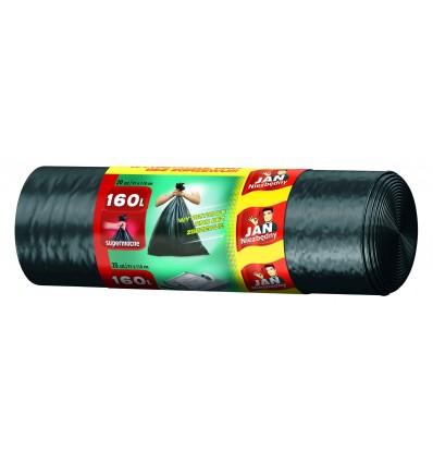 Worki na śmieci czarne LD 160L 20 szt. JAN NIEZBĘDNY
