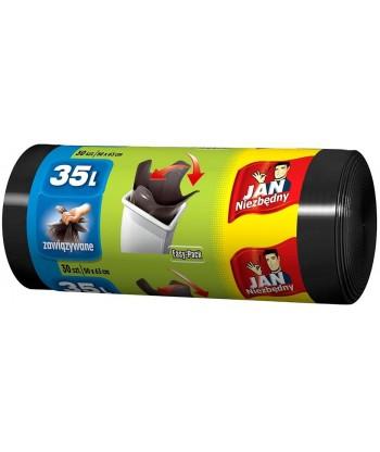 Worki na śmieci EASY PACK czarne 60L 26 szt. JAN NIEZBĘDNY