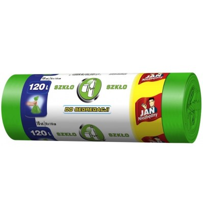 Worki do segregacji plastiku 120L 10 szt. JAN NIEZBĘDNY