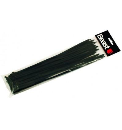 Opaski zaciskowe nylonowe czarne 190x4,7mm 50szt. BEAST