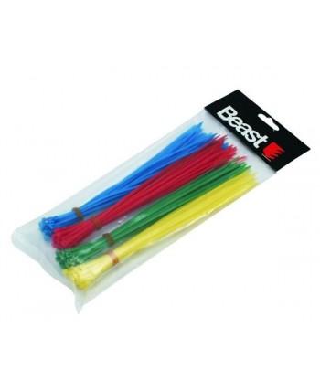 Opaski zaciskowe nylonowe kolorowe 200x2,5mm 120szt. BEAST