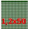 Siatka ogrodowa Quadra 1x50m oczko 5mm zielona LUSTAN