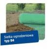 Siatka ogrodzeniowa rabatowa 0,4x50m oczko 15mm 94g/mb zielona MARMA