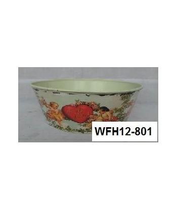 Doniczka osłonka na kwiaty ocynkowana WFH-10A072