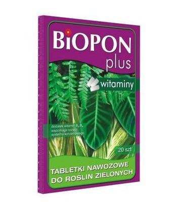 BIOPON PLUS tabletki nawozowe z witaminą do roślin zielonych 20szt.