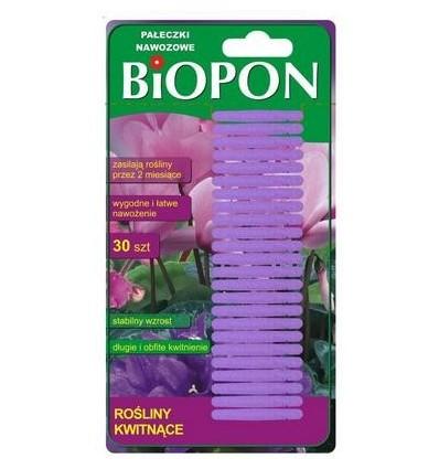 BIOPON pałeczki nawozowe do roślin zielonych 30szt.