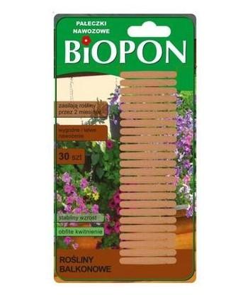 BIOPON pałeczki nawozowe do roślin kwitnących 30szt.