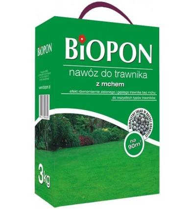 Nawóz do trawnika z mchem 3kg BIOPON