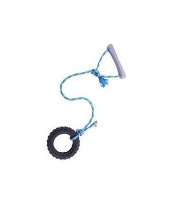 Zabawka zapachowa dla psa - Opona ze sznurkiem mała SUM-PLAST
