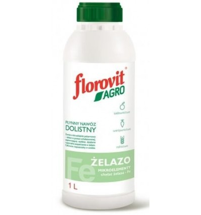 Płynny nawóz dolistny AGRO Żelazo 1L Florovit