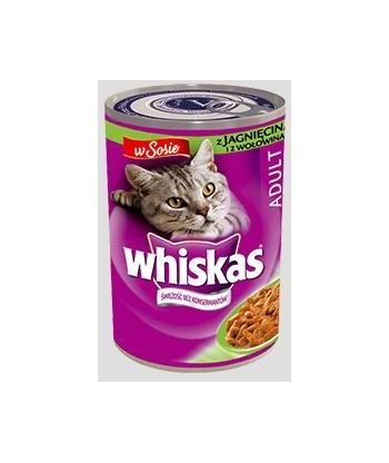 Karma dla kota puszka wołowina w sosie 400g Whiskas