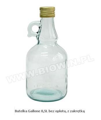 Butelka Gallone 0,5L w oplocie, z zakrętką BIOWIN