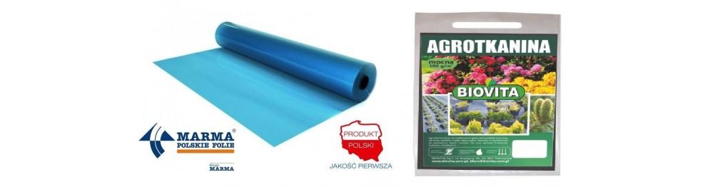 Folie i tkaniny ogrodnicze